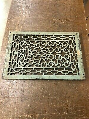 Vintage Cast Iron Floor Grate Floor Vent Victorian Art Deco ---- Large Piece