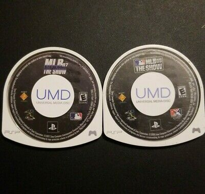 MLB The Show 07 & 09 Sony PSP Cart Game Disc Only Lot of 2 Baseball Games Tested