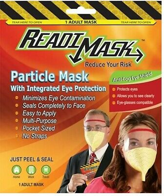 READIMASK Particlerespirator mask with eye protection reduces risk of virus
