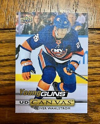 2019-20 UD Series 2 Young Guns Canvas Oliver Wahlstrom #C215 NY Islanders Rookie