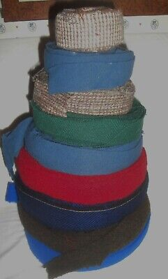 "Lot #2 4 lbs. Rug Braiding Wool Strips 1 1/2"" Wide Long Strips, Various Colors"