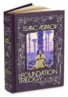 THE FOUNDATION TRILOGY by Isaac Asimov *New Sealed Leather Bound Collectible*