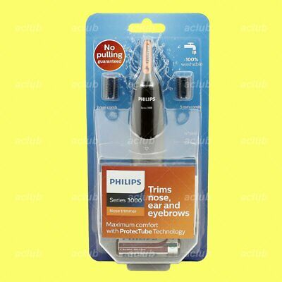 Philips NT3160 Washable Nose Ear Eyebrow Hair Trimmer Clipper Battery Operated
