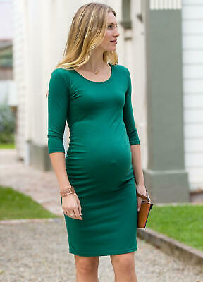 Lait & Co - Issy Maternity Pregnancy Going Out Dress in Emerald