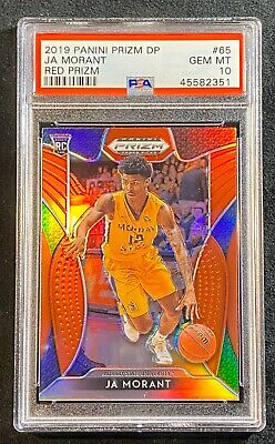 2019 Panini Prizm Draft Picks 65 Ja Morant Red Prizm Gem Mint Psa 10!