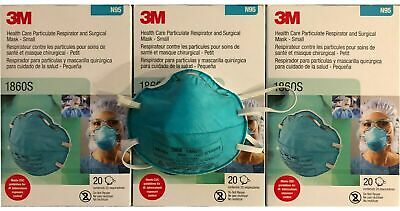 3M N95 1860S Medical Surgical Respirator Face Mask - Box of 20 EXP 2024 IN STOCK