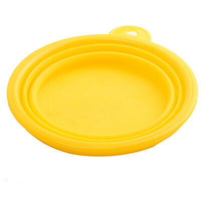 Pet Cat dog Bowl folding collapsible silicone puppy doggy feeder water food G8C