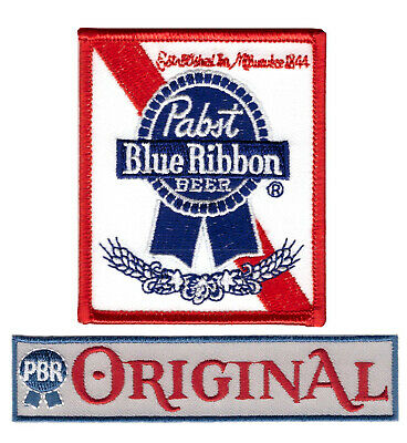 Pabst Original - Set Decorative Blue Ribbon Beer Hippie Jeans Bag Jacket Patch