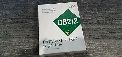 "Vintage IBM DB2/2 Database 2 OS/2 Single User 3.5"" Disk Version 1.2"