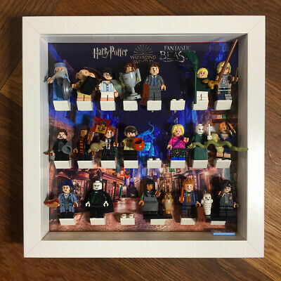 Lego Harry Potter minifigures in display case