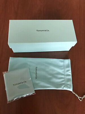 Authentic Tiffany Eyeglass Box, Bag And Cleaning Cloth New