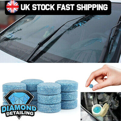 Diamond glass screen wash tablets | 10 pack concentrated convenient