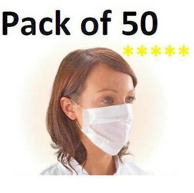 Disposable Face Mask Virus FLU Dental Nail Salon Dust Mask 50 PACK 10 20 100