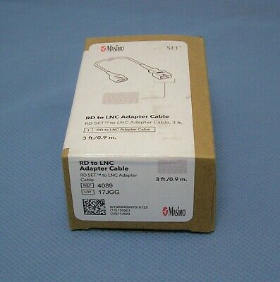 Masimo 4089 RD to LNC Adapter Cable, Reusable, New