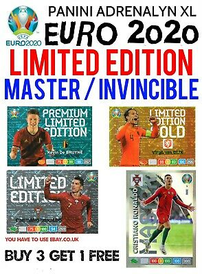 Panini Euro 2020 Limited Edition Master Cards - 59 To Choose From Adrenalyn Xl