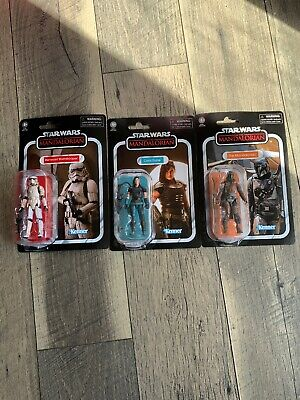 The Mandalorian SET Of 3 Action Figure Star Wars The Vintage Collection Kenner