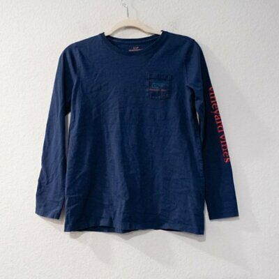 Vineyard Vines Kids Long Sleeve Blue T Shirt XL