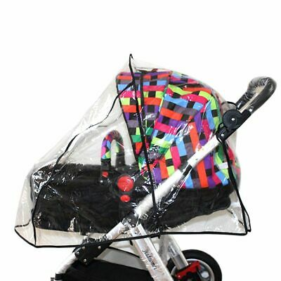 Stroller Rain Cover Baby Pushchair Clear Rainproof Shade Protector Cover Shield