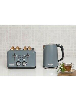 Haden Perth Grey Kettle and 4 slice Toaster Set