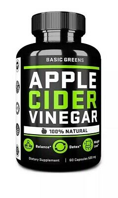 Apple Cider Vinegar Capsules With Cayenne Pepper Fast Weight Loss 60 Ct USA Made