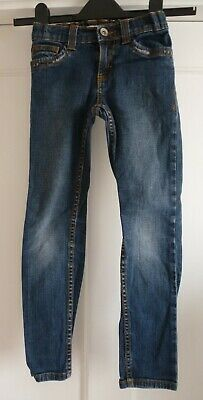 Girls Age 7 Blue Denim Skinny Jeans Indigo Collection from M&S Marks & Spencer