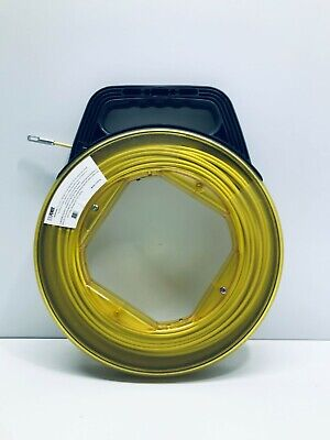 Fiberglass Fish Tape Reel Conduit Ducting Rodder Wire Cable Puller Free Post