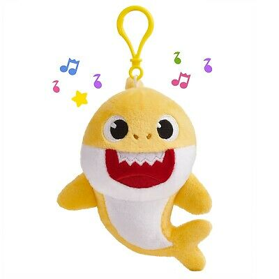 Pinkfong Baby Shark Singing Plush Clip Yellow Baby Shark, NEW