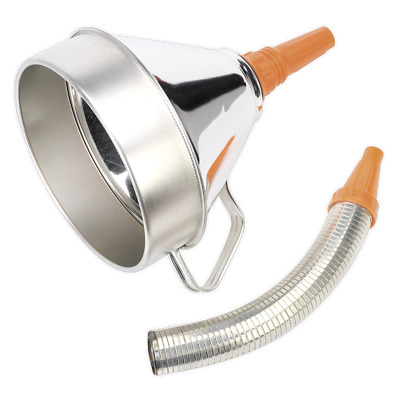 Sealey Funnel Metal with Flexible Spout & Filter 200mm - FM20F