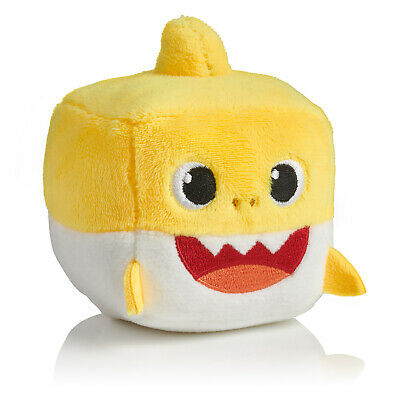Pinkfong Baby Shark Singing Plush Cube Yellow Baby Shark, NEW