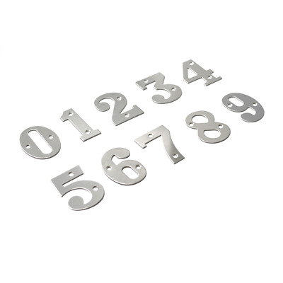 Genuine Sandleford 50mm Screw On Silver Numeral Door Number 8 Eight And Fixings