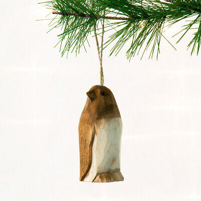 Animal Christmas Ornament Hand Carved Wood Rustic Primitive Holiday