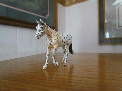 Breyer Loping quarter horse stablemate custom appaloosa, pan pastels ,acrylics