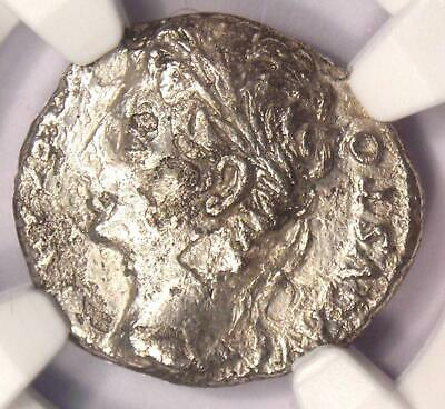Augustus AR Denarius Coin 27 BC - 14 AD, Spanish Mint - Certified NGC VG