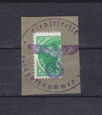 Germany - Sc#MQ2 Bisect On Piece Used - Military Parcel Post