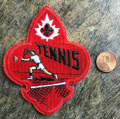 Quebec Canada Tennis Souvenir Maple Leaf Vintage Sew On Embroidered Cloth Patch