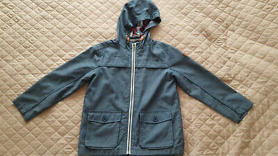 J by Jasper Conran Jeans Boys Blue Denim Lined Light Weight Hooded Jacket 10 Yrs