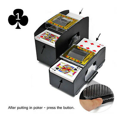 Automatic Card Shuffler Sorter Poker Deck Casino Machine Playing 2 Cards Games