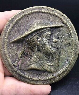 Rare Old Wonderfull Undate Bactrain Greek Bronze Antique Coin