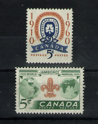 Canada    Scott 356 & 389  Guides & Scouts  Mint  Never  Hinged