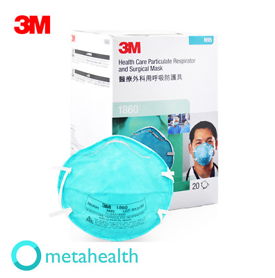 3M N95 1860 Particulate Respirator & Surgical Mask 20 box Expedited Shipping in
