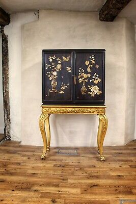 Antique Vintage Chinoiserie Cabinet