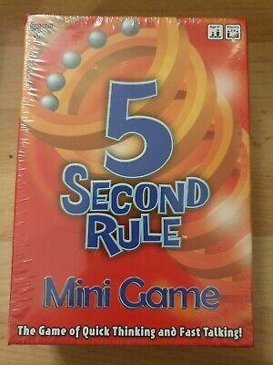 NEW & FACTORY SEALED University Games 5 Second Rule Mini Game