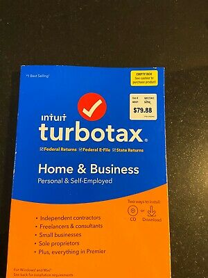 TurboTax Home & Business 2019 Fed+Efile+State Mac/Windows CD