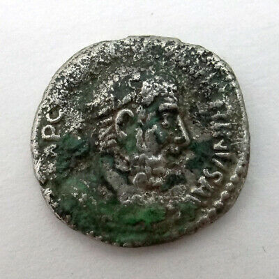 Ancient Artifact Unresearched Silver Denarius Coin