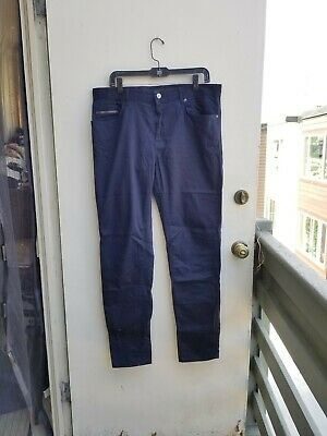 Zara Man Mens Chinos Dark Blue Pants Size 34