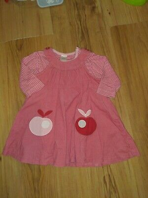 Baby Girls NEXT Dress Outfit Pink Apple Age 0-3months