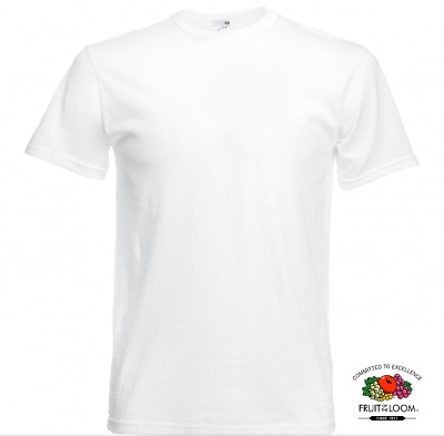 T-shirt BLANC taille XXXXL Vêtement Homme Fruit of the Loom coton Original