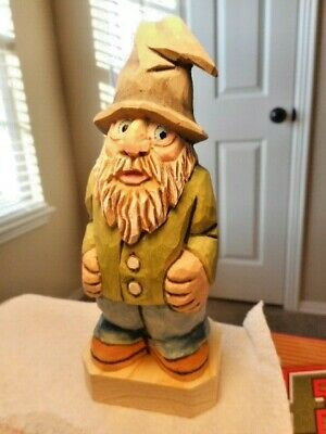 Hill Folk Carving Hand Carved Wood Figure