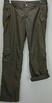 Patagonia Womens Hiking Pants Size 8 Olive Green Nylon Outdoor Roll Up Leg