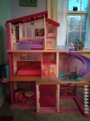 NEW Barbie Dreamhouse with 70+ Accessory Pieces Dream Playset Doll House Girls